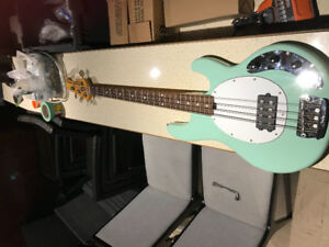 2012 SterlingRay34ca (Classic Active) Bass Guitar in Mint Green