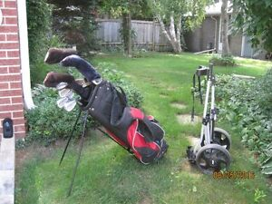 Golf Trend Clubs and Pull Cart