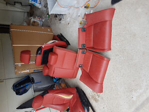 Coral red bmw e92 seats