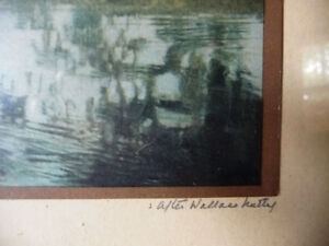 """Antique Colored Photo After Wallace Nutting """"Reflections"""" 1920's Stratford Kitchener Area image 4"""