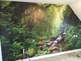 BRAND NEW IN BOX rainforest wallpaper wall mural