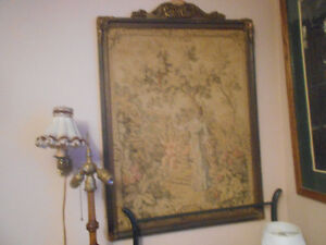 Vintage Tapestry of Victorian Lady 34X28