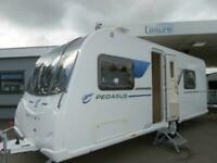2016 BAILEY PEGASUS ANCONA 5 BERTH CARAVAN WITH FIXED BUNK BEDS AND SIDE DINETTE