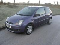 Ford Fiesta 1.4 2007.25MY Zetec Climate ONLY 78250 Mls 3 Dr Purple Clean