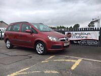 Vauxhall Zafira life years mot 3 month warranty