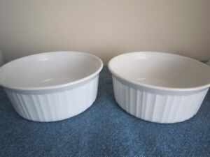 French White Corning Ware Dishes