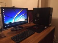 Selling PC with monitor and keyboard, perfect for gaming or browsing