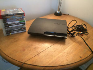 PS3 with all necessary cables, 1 controller, and 11 great games!