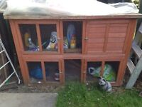 x2 rabbit hutches 2 stories - SENSIBLE OFFERS