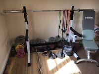 Weights gym set
