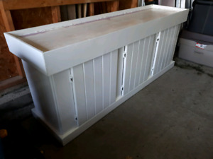 Aquarium Stand - white solid wood for 125, 135 and 150 gal tank