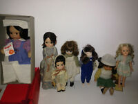 Lot of 8 Vintage Collector Dolls 50s-80s