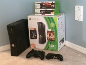 xBox 360s with 8 Games for Sale!