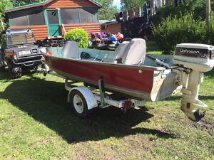 16' aluminum fishing boat.