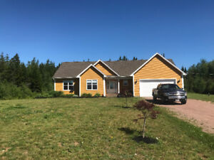 House with double garage for sale Memramcook 5 years old