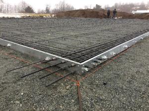 STEEL AND WOOD BUILDING FOUNDATIONS/HEATSLAB