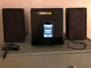 Sony stereo with CD, MP3, radio FM and AM, iPod FREE !!