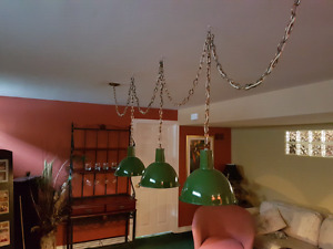 Overhead lights for pool table