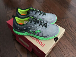 Size 2 Boys Saucony running shoes