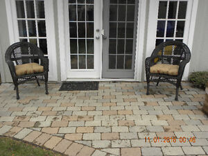 2 Wicker (Resin) Patio Chairs