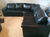 High quality back leather sectional