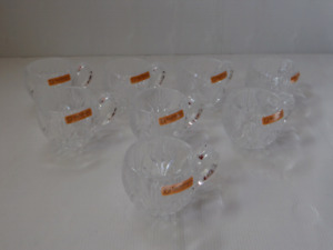 Nachman Russian Cut Crystal Tea Glasses.