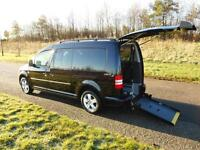 2013 Volkswagen Caddy 1.6 Tdi ONLY 3K BLACK Wheelchair Accessible Adapted Access