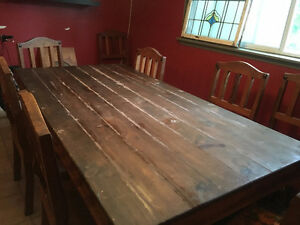 Solid Wood BIG table & 8 chairs