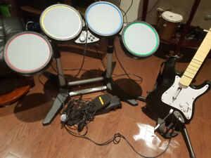 Rock Band Drum Guitar set for xbox 360