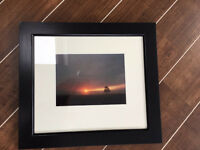 Perth sunset photograph with black frame
