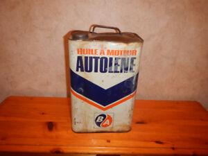 Ancienne Canne D Huile a Moteur BA 2 Gallons