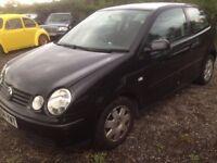Breaking Volkswagen polo twist black 1.2 3 door hatchback petrol 2004 for parts tm
