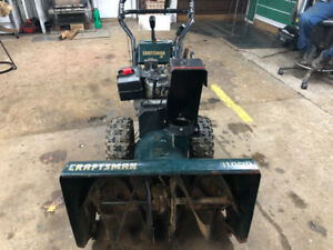 "Craftsman Snowking 11HP/30"" cut snowblower."
