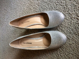 Sparkly Silver and Satin Gold shoes
