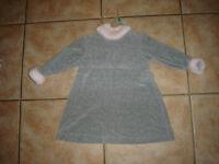 : Robe neuve 24 mois superbe en velour coton