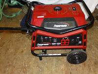 Powermate 6500W Portable Generator only 55 minute use
