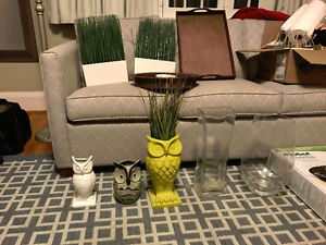Various Vases and Decor Items