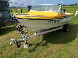For Sale 80HP fibreglass boat/Both Registered