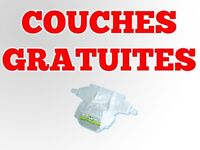 Couches Pampers Gratuites