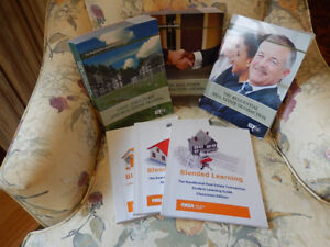 Real Estate Course books, study DVD, and student resource books.