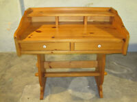 Hand Crafted Pine Desk