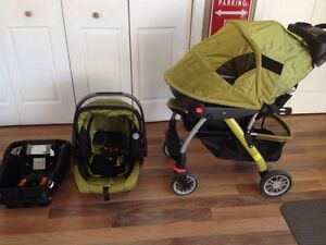 Evenflo stroller with car seat and base