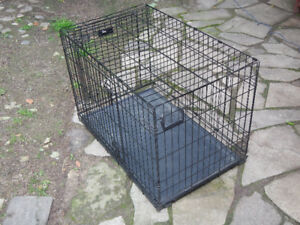 "Folding Dog Crate( L x W x H)  36"" x 22"" x 25"" Steel  $60"