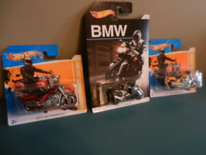 Hot Wheels Motorcycles Harley,BMW Lot of 3