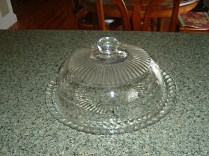 cake plate with glass top