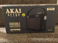 Akai retro portable DAB radio