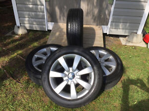 205-55-16, 4 season tires with VW mags