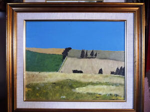 "Bright Original Oil Painting by Mark Stockman ""Rolling Fields"""
