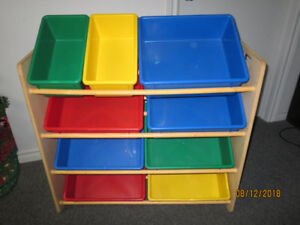 Nine bin storage