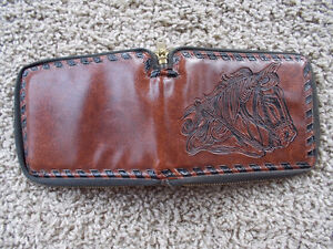 Beautiful Wallet with Horse tooled/embossed on it--NEW! London Ontario image 2